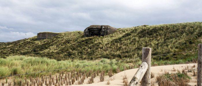 Bunkers in de duinen