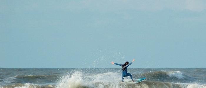 Surfer in Noordwijk