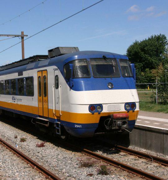 Trein bij Hoek van Holland