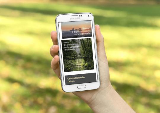 Website op mobile telefoon
